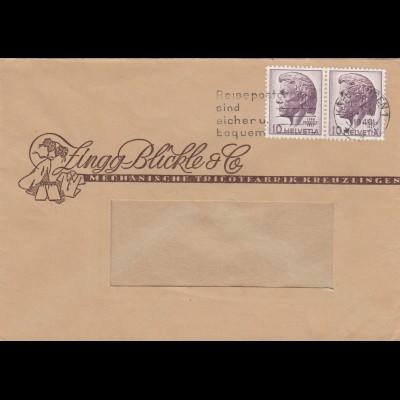 Brief 1946 Kreuzlingen, Mechanische Trikot-Fabrik, Kleidung