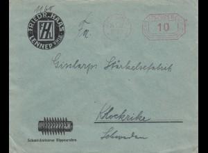 1927: Remscheid Schmiedeiserne Rippenrohre nach Klockrike/Schweden