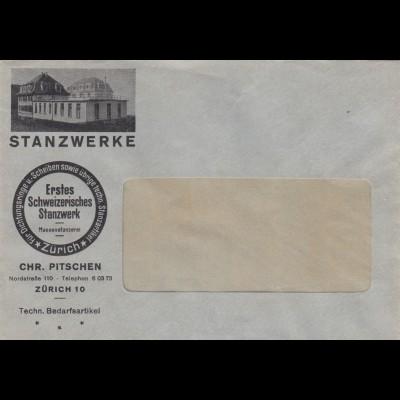 Briefumschlag Zürich, Erstes Stanzwerk, Dichtungen etc.