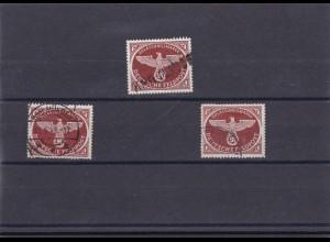 Feldpost Zulassungsmarke, 3x gestempelt aus alter Sammlung