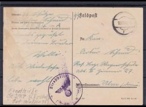 1942: SS-Feldpost Nr. 00034: Fronthilfe Kraftfahrstaffel DRP Ostfront