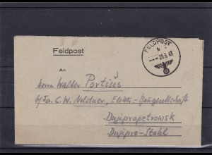 1943: SS-Feldpost Kraftfahrer FPNr. 23217: Deutsche Reichspost Postschutz