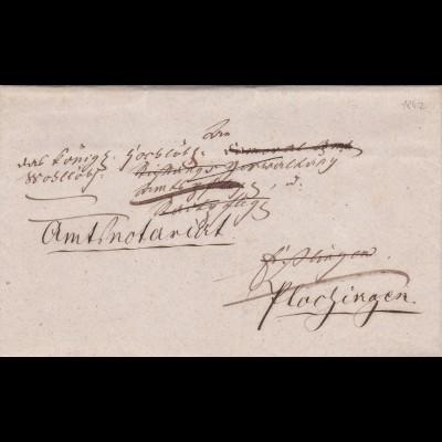 18x2: Brief nach Plochingen
