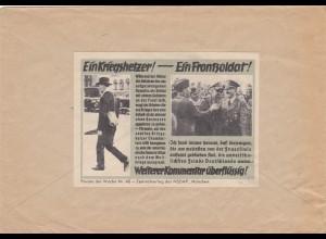 Parole der Woche: PdW: Nr. 40/1939 auf Postsache Brief