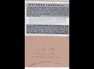Parole der Woche: PdW: Nr. 43/1941 auf Feldpost Brief Nr. L55059
