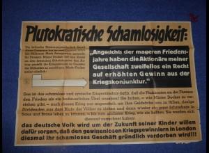 Parole der Woche: PdW: Propaganda RIESEN PLAKAT, SELTEN