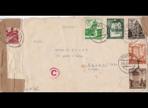Generalgouvernement (GG): Brief nach USA (Tulsa), 2. Gewichtsstufe