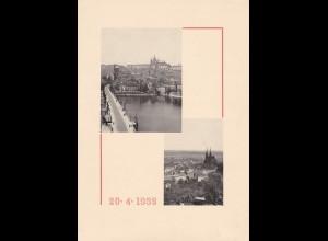 B&M: 20.4.39, Mappe mit Einlegeblatt - Sonderstempel zum Anlass