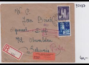 GG: Brief Interniertenpost - Einschreiben 2x Zensur, Rodels