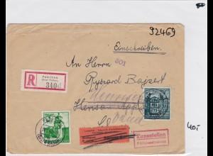GG: Brief Interniertenpost - Einschreiben 2x Zensur, Henniez