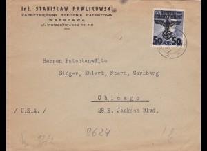GG: Brief von Warschau nach Chicago/USA