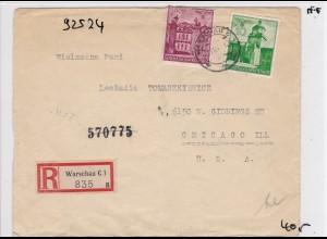 GG: Einschreiben Warschau nach Chicago/USA