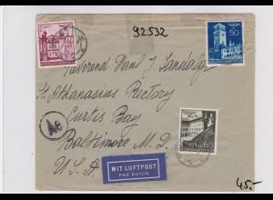 GG: Luftpostbrief von Warschau nach USA, Zensur