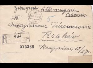 GG: Brief von Russland als Einschreiben nach Krakau