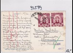 GG: Ansichtskarte aus Rumänien nach Stommiki, Zensur