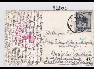 GG: Ansichtskarte aus Rumänien nach Opatow, Zensur