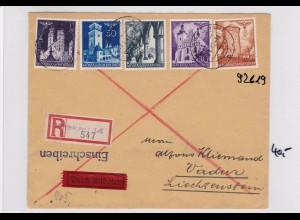 GG: Einschreiben Krakau 14 nach Vaduz, Zensur