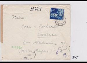 GG: Brief von Warschau nach Italien, Spalato, Zensur