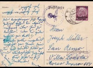 GG: Postkarte von Krakau nach Italien