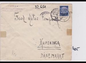 GG: Brief von Krakau nach Kopenhagen/DK, Zensur