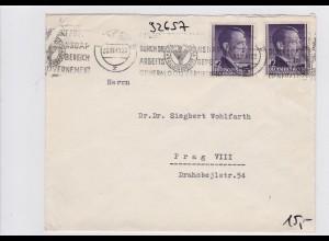 Generalgouvernement - GG: Brief von Krakau nach Prag