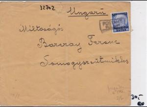 GG: Früher Brief von Pulawy nach Ungarn, Zensur
