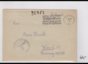 GG: Feldpost Brief mit Werbestempel Radom mit Inhalt