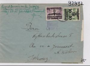 GG: Brief von Warschau in die Schweiz