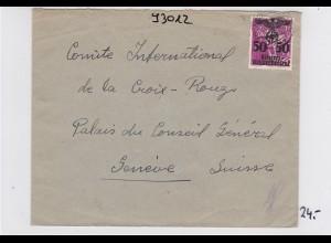 GG: Brief an Rotes Kreuz- Zentrale/Schweiz
