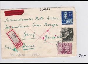 GG: Einschreiben Krakau an Rotes Kreuz- Zentrale/Schweiz