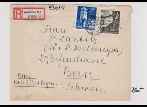 GG:Brief von Warschau nach Bern, Laubitz, Zentrale für Weiterleitung der Briefe