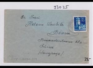 GG:Brief von Krakau nach Bern, Laubitz, Zentrale für Weiterleitung der Briefe