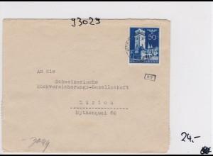 GG: Brief von Warschau nach Zürich, Rückversicherung