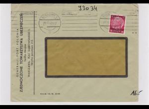 GG: Brief von Warschau nach Zürich/Schweiz- Zensur, Rückversicherung