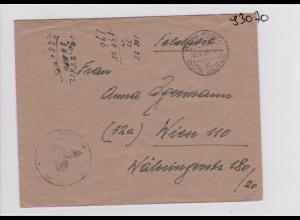 GG: Feldpost: Brief aus Rawa Ruska nach Wien, April 1944, späte Post