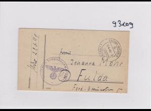 GG: Feldpost Nr. 22091 von Sadowa Wisznia, Lemberg, späte Post