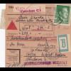 GG: Paketkarte Nachnahme, Wert und Beutelpost von Warschau nach Kielce