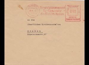 GG: AFS Gouverneuer Krakau, Kuvert doppelt Verwendung, 2. Gewichtsstufe