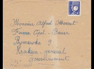 GG: Brief aus Frankreich nach Krakau, OKW Zensur