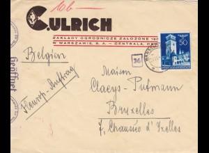 GG: Brief von Warschau nach Brüssel, Zensur