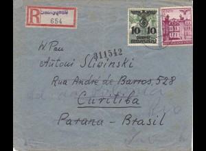GG: Einschreiben Lemberg nach Brasilien Curitiba, Zensur