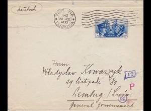 GG: Brief aus Verona nach Lemberg, Zensur