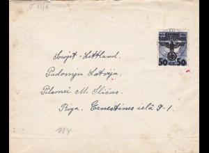 GG: Brief von Krakau nach Lettland