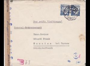 GG: Brief aus Portugal nach Moscice, OKW Zensur