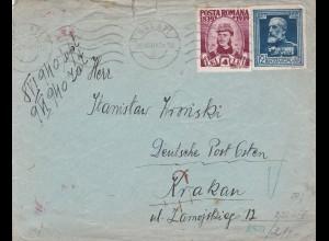 GG: Brief von Galati/Rumänien nach Krakau, Zensur