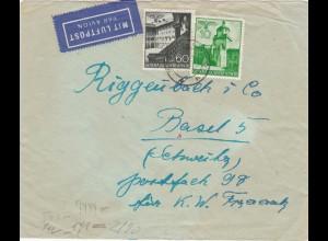 GG: Brief Luftpost von Warschau nach Basel, seltene Portostufe, Zensur