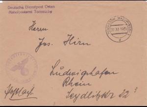 GG: Postsache Tomaszow nach Ludwigshafen
