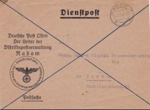 GG: Postsache Leiter Distriktspostverwaltung Radom nach Busko