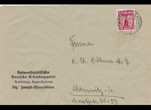Parole der Woche: PdW: NSDAP Brief Zwiesel mit PdW Label