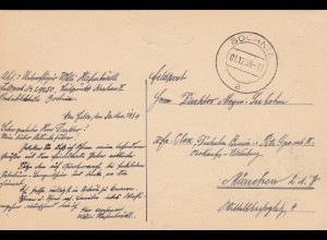 GG: Gedenkarte G1, langes f, versandt am 01.12.39 aus Bochnia